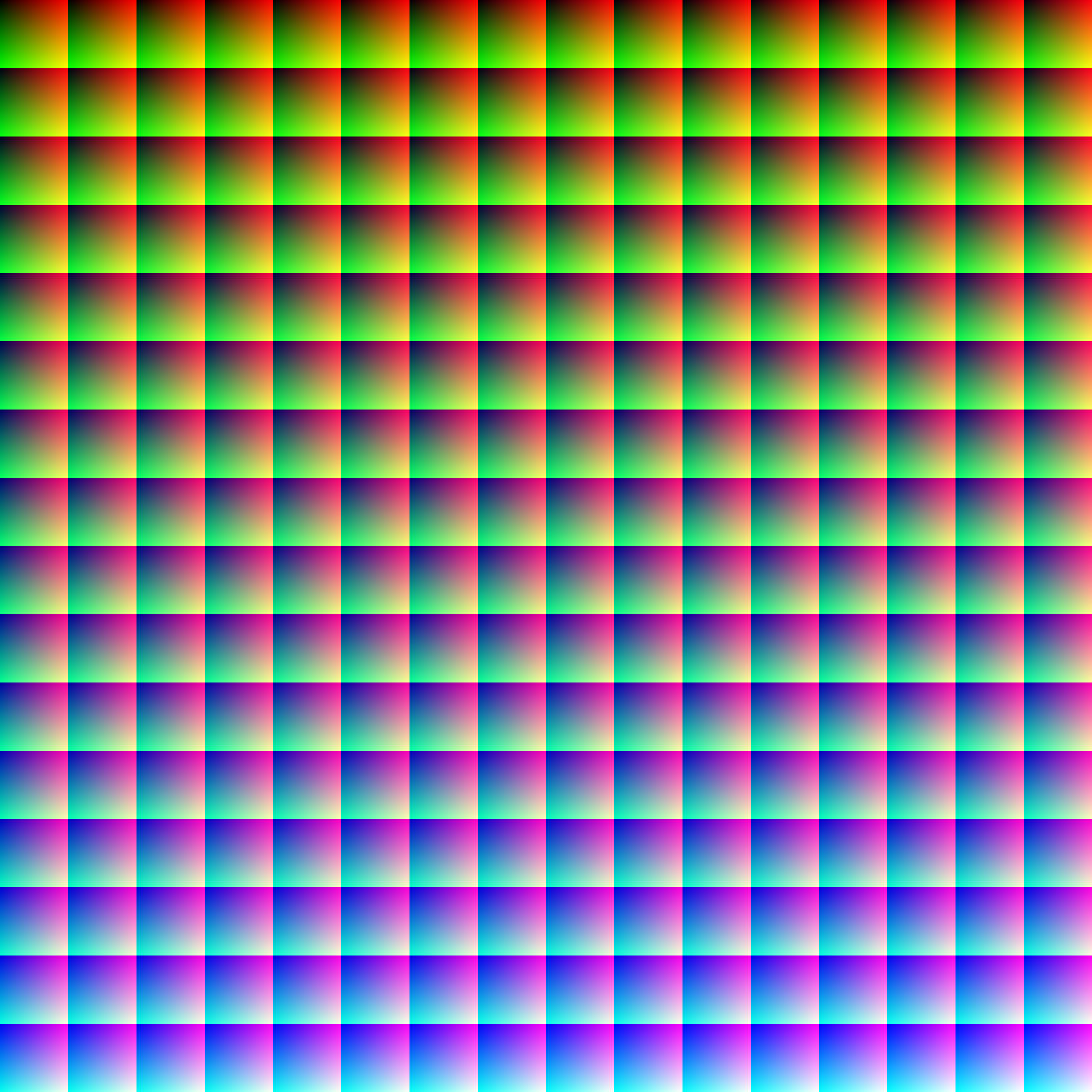 An Rgb Image Containing All Possible Colors